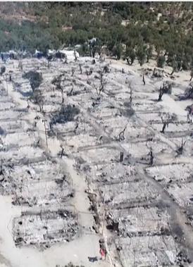 Flyktinglägret Moria totalförstört vid brand